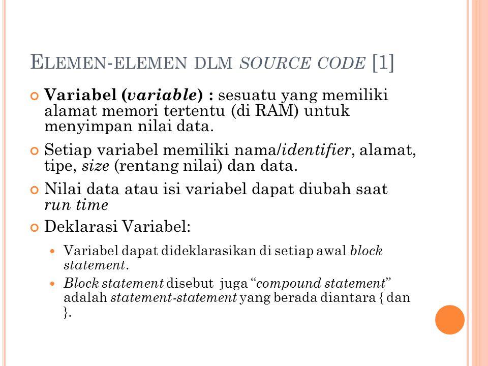 Elemen-elemen dlm source code [1]